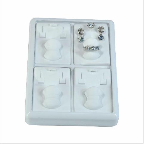 - 3'lü Set Tablası 13x17 cm Plastik Beyaz