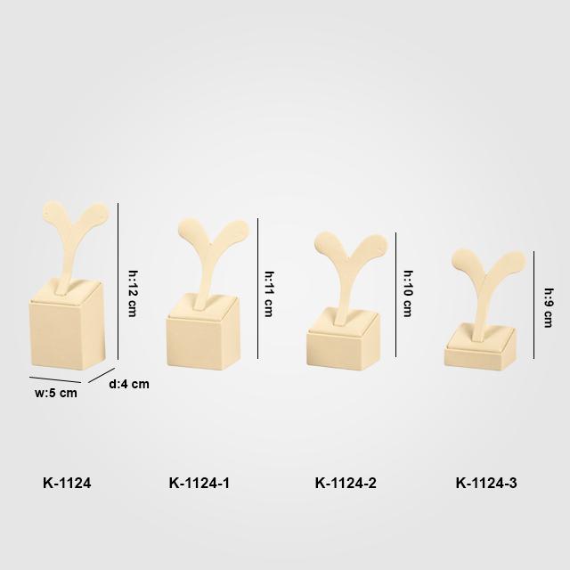 - 4 Boy Küpe Takı Standı K-1124 Krem