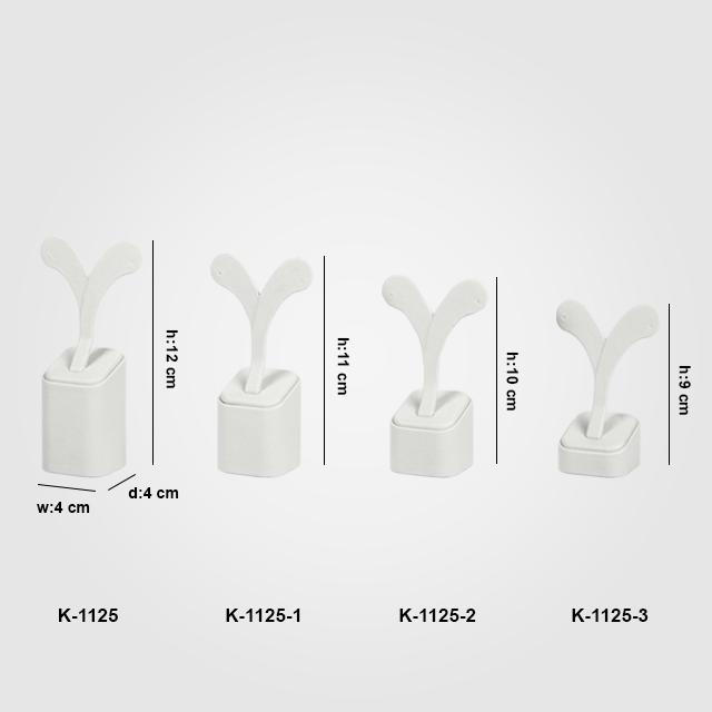 - 4 Boy Küpe Takı Standı K-1125 Beyaz