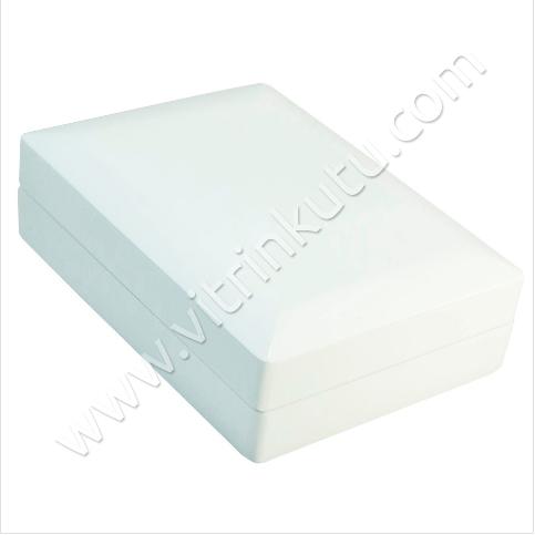 - Ahşap Set Kutusu 11x15 cm Büyük Beyaz Cilalı