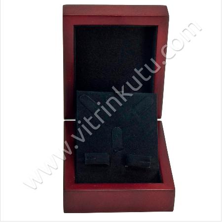 - Ahşap Üçlü Set Takı Kutusu 9x11 cm Kahve