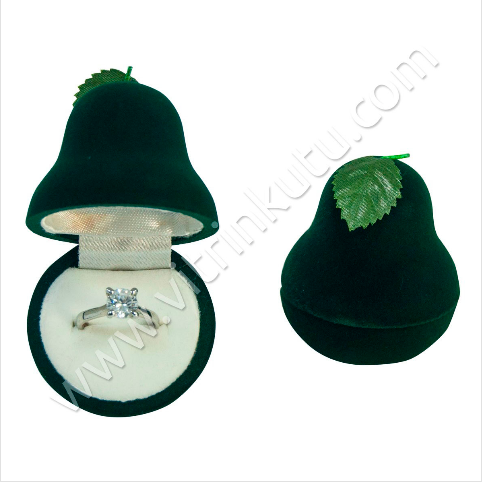 - Armut Yüzük Kutusu 4x4 cm Yeşil