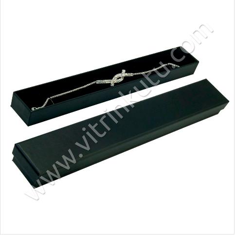 - Bileklik Kutusu Karton 3.5x17 cm Siyah