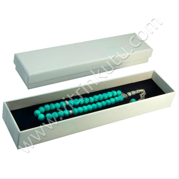 - Tespih Kutusu 3.5x15 cm Karton Beyaz 12'li Paket