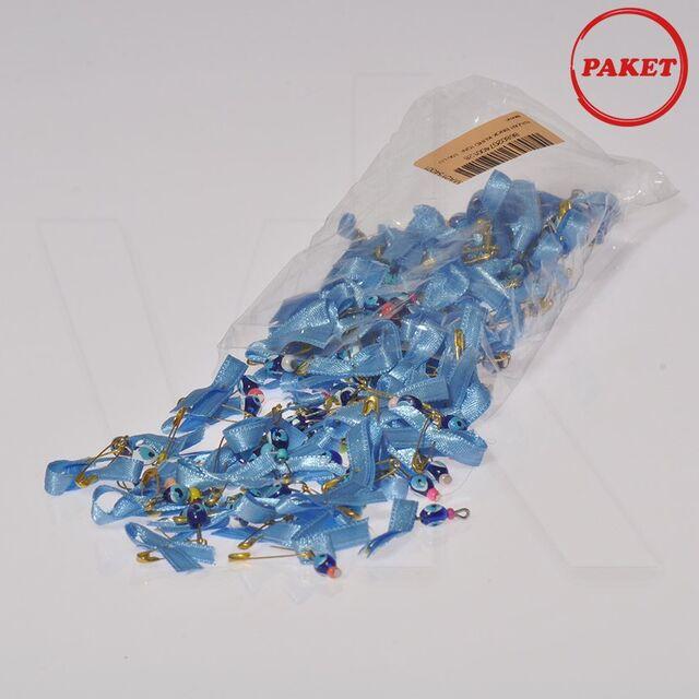 - Çengel İğneli Mavi Kurdeleli Nazarbocuğu 100'lü Paket