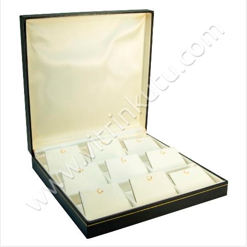 - Çoklu Küpe Kutusu 19.5x19.5 cm 9'lu Kartier