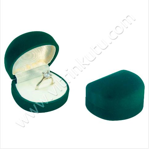 - Damla Tektaş Yüzük Kutusu 5.5x4.5 cm Yeşil