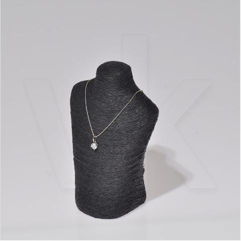 - Dik Gerdanlık Manken Büst Standı 11x07x17 cm Siyah