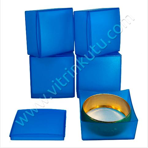 - Duble Kelepçe Bilezik Kutusu Mavi Plastik 24'lü Paket