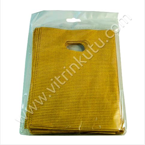 - El Geçme Poşet 20x30 cm Lüks Naylon 50'li Paket Gold