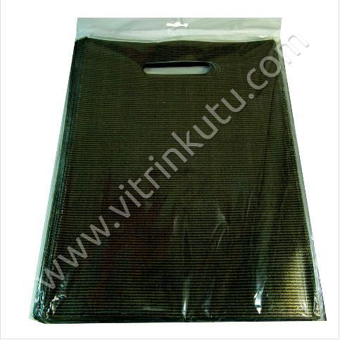 - El Geçme Poşet 20x30 cm Lüks Naylon 50′li Paket Siyah