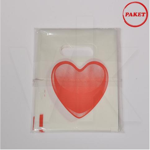 - El Geçme Poşet Kalp Baskılı Hediyelik 100'lü Paket