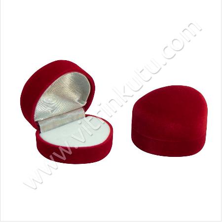 - Flok Kalpli Yüzük Kutusu 5x4 cm Kırmızı