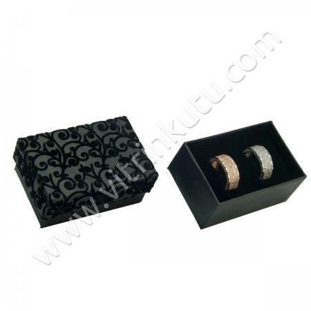 - Floklu Alyans Kutusu Karton Siyah 12'li Paket