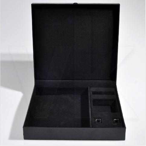 - Deri Kol Düğmesi Cüzdan Kravat Kutusu 36x36 cm Hediyelik