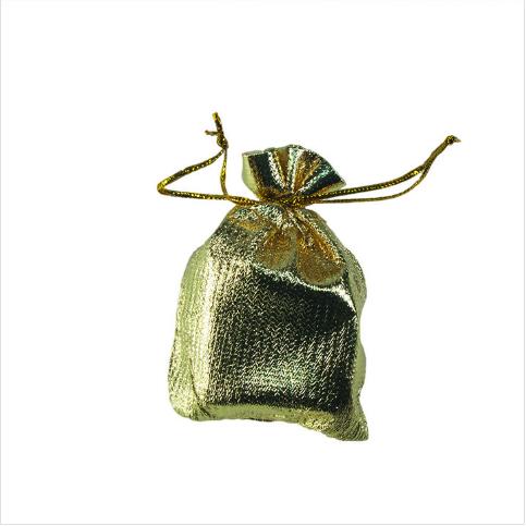 - Hediyelik Kese Lame 7x9 cm Gold 100'lü Paket