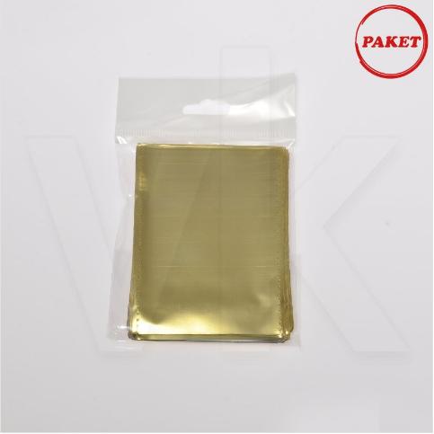 - Hediyelik Poşet 50'li Paket Lüks Metalize Gold