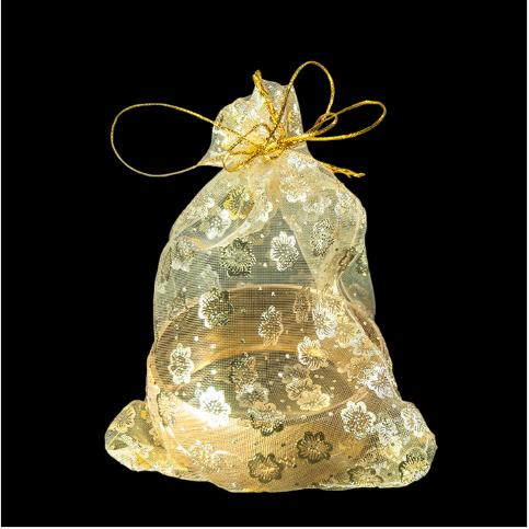 - Hediyelik Tül Kese 12x14 cm Gold 100'lü Paket