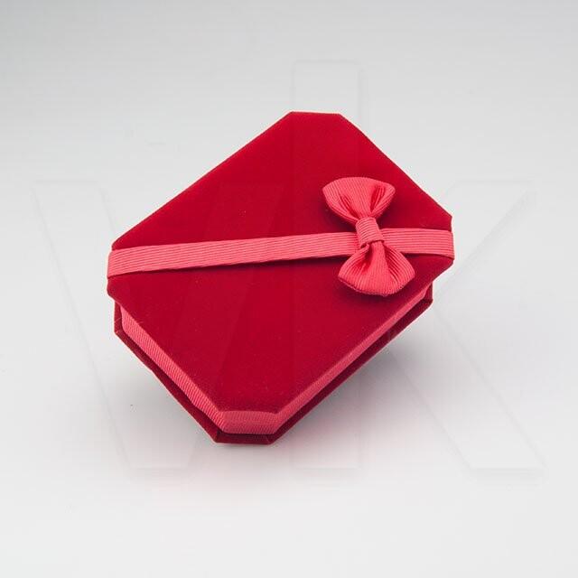 - Kadife Kolye Kutusu Kurdelalı Kırmızı