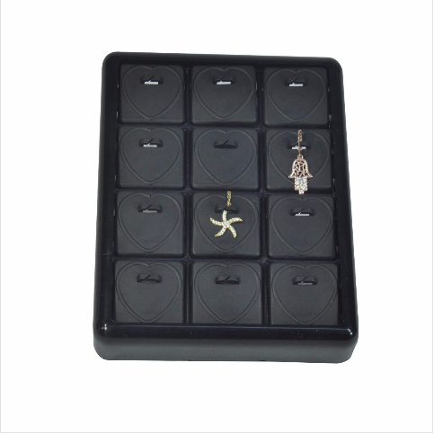 - Kalpli Küpe Tablası 13x17 cm Plastik Siyah