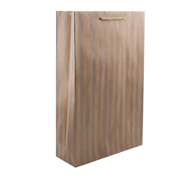 - Karton Çanta 24x38 cm Çizgili Model 1 (12'li Paket)
