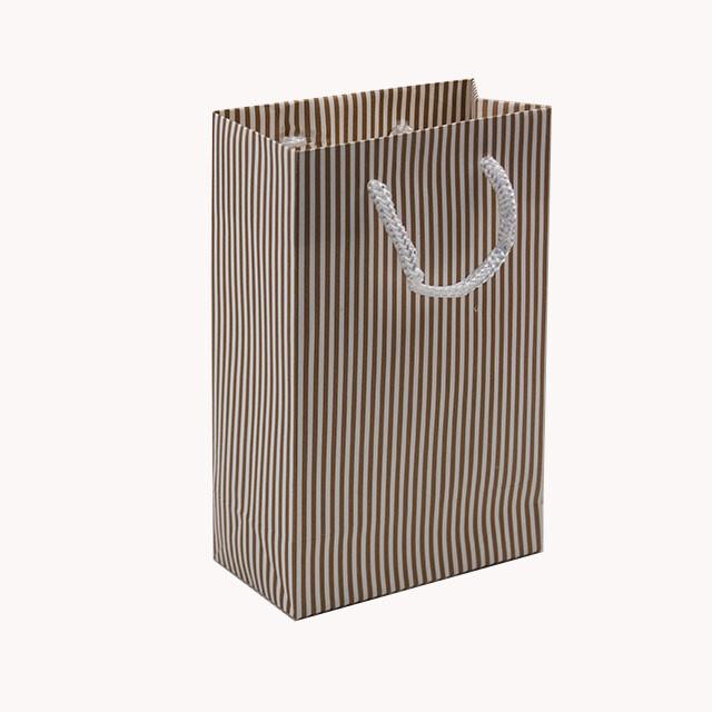 - Karton Çanta 12x17 cm Çizgili Model 2 (12'li Paket)