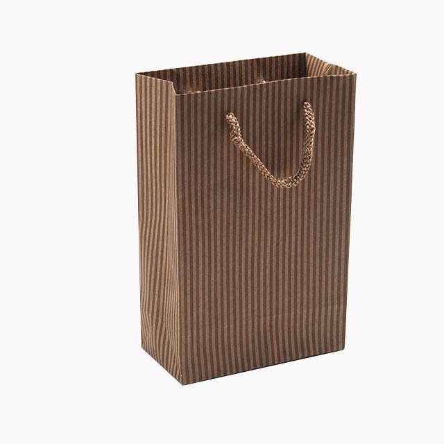 - Karton Çanta 12x17 cm Çizgili Model 3 (12'li Paket)