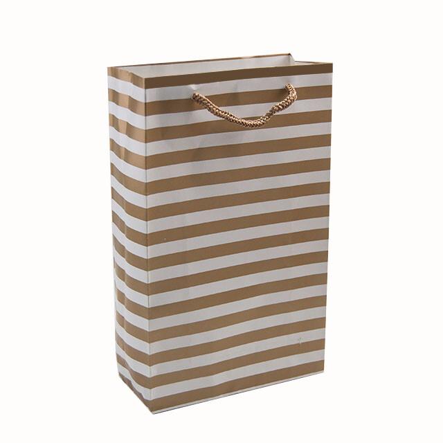 - Karton Çanta 17x27 cm Çizgili Model 2 (12'li Paket)