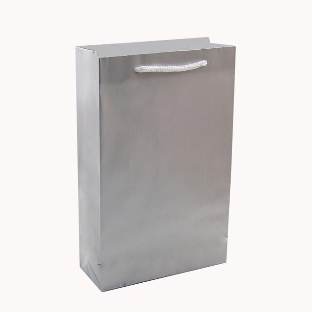 - Karton Çanta 17x27 cm Gümüş (12'li Paket)