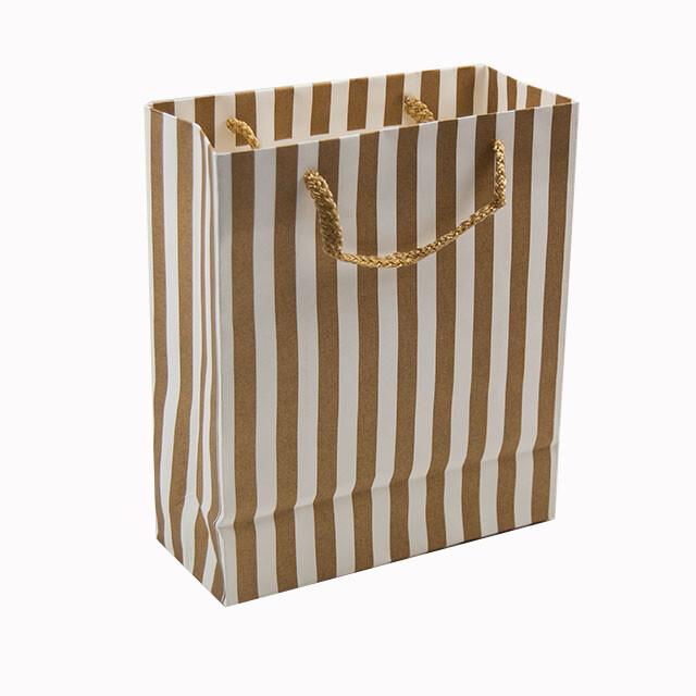 - Karton Çanta 18x21 cm Çizgi Desenli 12'li Paket