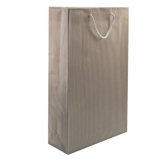 - Karton Çanta 24x38 cm Çizgili Model 3 (12'li Paket)