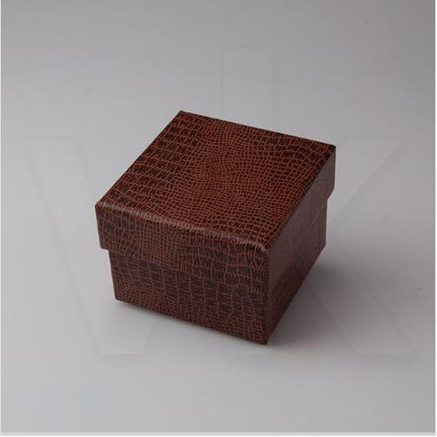 - Karton Yüzük Kutusu Kahverengi