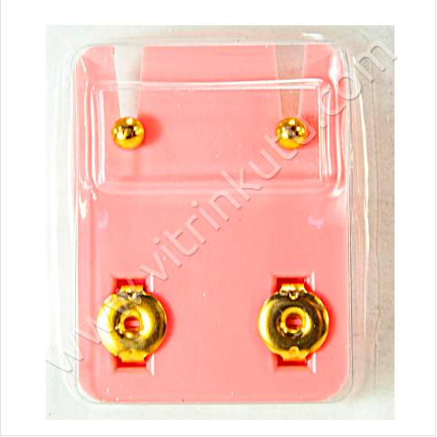 - Studs Steril Kulak Delme Küpesi Sarı'ya Sarı Top 12 Çiftli Paket
