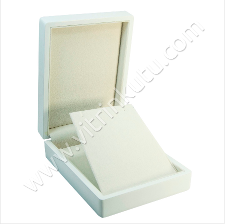 - Küpe Kolye Takı Kutusu 11x15 cm Ahşap