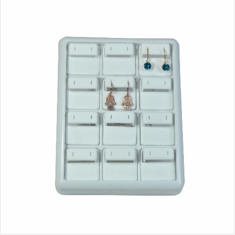 - Küpe Tablası 13x17 cm Beyaz Plastik