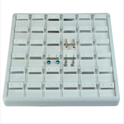 - Küpe Tablası 25x25 cm Beyaz Plastik