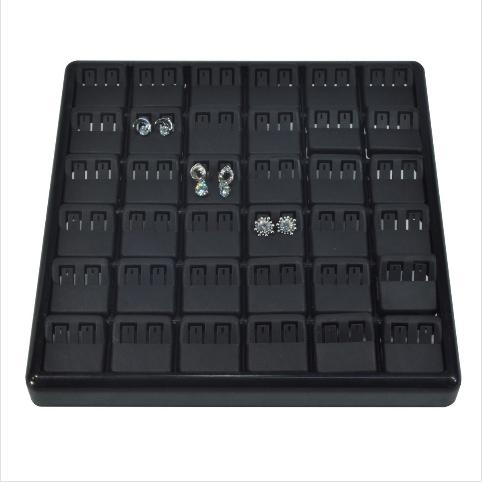- Küpe Tablası 25x25 cm Siyah Plastik
