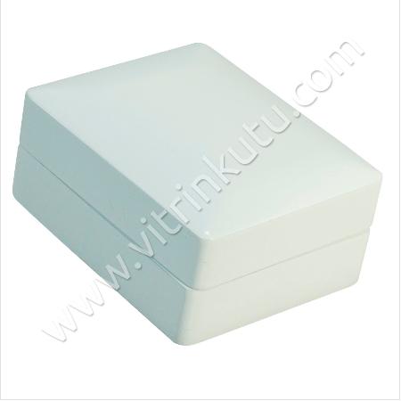 - Küpe Takı Kutusu 6x8 cm Ahşap Beyaz