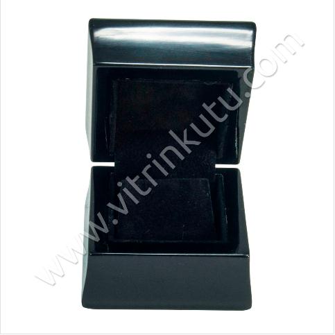 - Küpe Takı Kutusu 6x6 cm Ahşap Üzeri Kadife