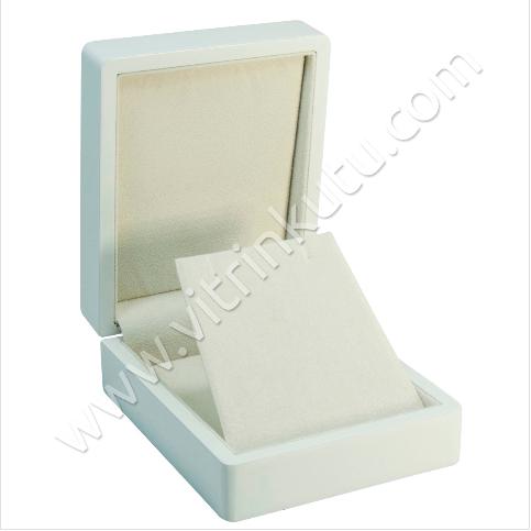 - Küpe Takı Kutusu 9x11 cm Ahşap Beyaz
