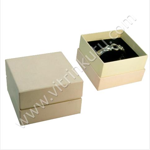 - Kelepçe Bilezik Kutusu 10x10 cm Lüx Beyaz Karton 2000B