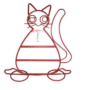 - Metal Küpelik Kedi Figürlü
