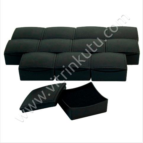 - Mini Set Üçlü Takım Kutusu 6x6 cm Plastik Siyah 24'lü Paket