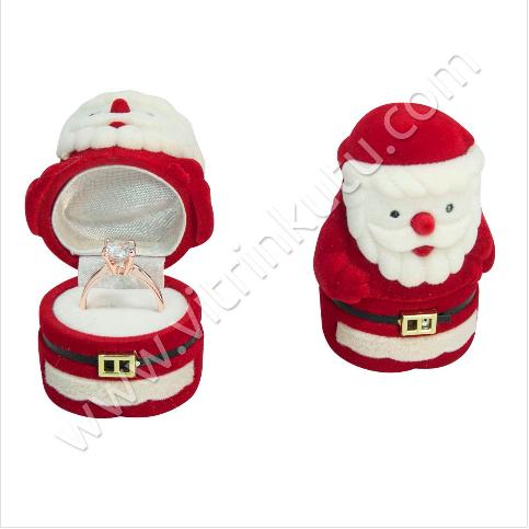 - Noel Baba Yüzük Kutusu 4x4 cm Flok