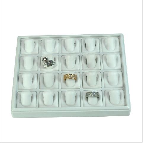 - Parmak Yüzük Tablası 22x18 cm Plastik Beyaz