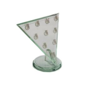 - Pleksi Üçgen Kolye Ucu Standı Açık Yeşil