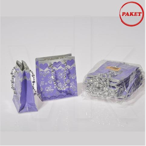 - Karton Çanta 11x10 cm Hediyelik 12′li Paket Lila