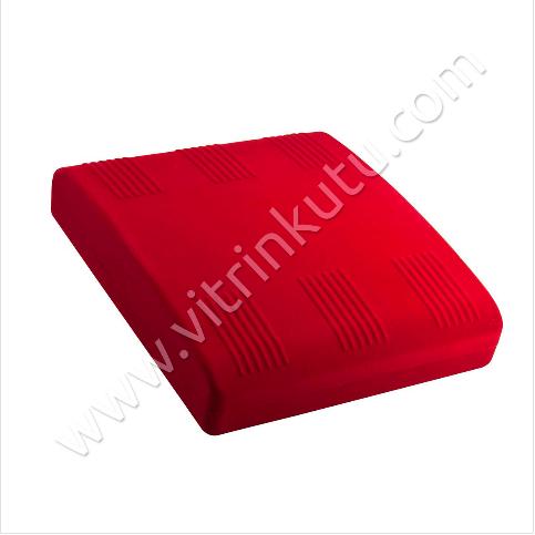 - Set Takı Kutusu 18x21 cm Flok Kırmızı