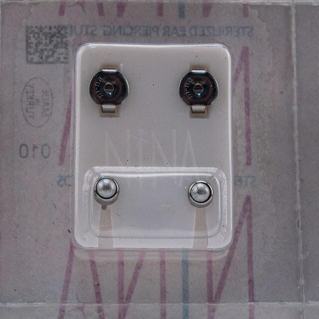 - Steril Kulak Delme Küpesi 12 Çift Nina Çelik İnci Beyaz