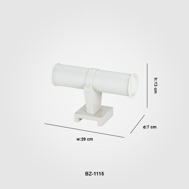 - Tek Katlı T Bilezik Aksesuar Standı BZ-1115 Beyaz